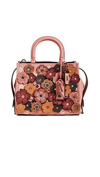 coach rose tea bag shoulder bag