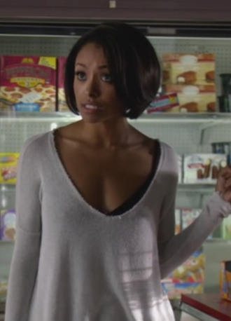 top the vampire diaries bonnie bennet kat graham v-neck top