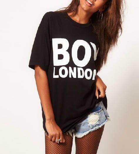 London Letters Print Black T-shirt @ T Shirts,Tee Shirts,Womens T ...