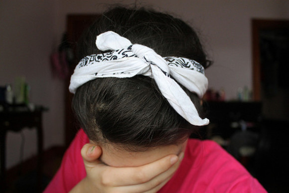 hair bow dress girl bandana