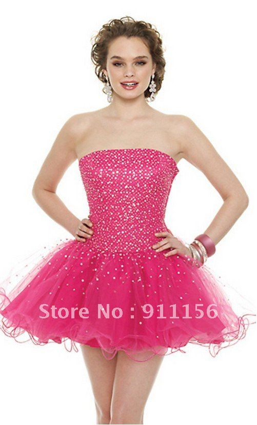 2012 Short Mini Strapless Sweetheart Party Gown Sequin Beaded Ruched Lace Up Evening Bridesmaid Cocktail Prom Dresses 9098-in Prom Dresses from Apparel & Accessories on Aliexpress.com