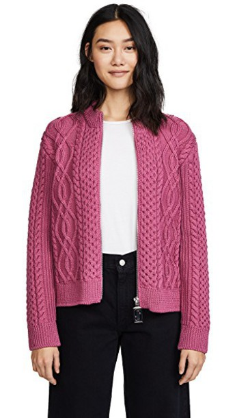 cardigan cardigan long pink sweater