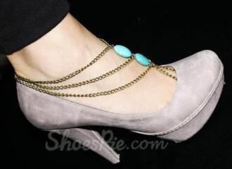 jewels jewelry gold chain anklet bracelets layers blue summer boho bohemian grunge vintage sumemr tumblr
