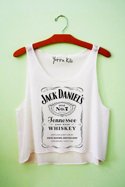 Jack Daniels Crop Tank Top on Wanelo