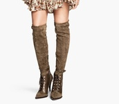 boots,over the knee,pointed toe,pointed toe heels,pointed shoes,fall outfits,knee high boots,khaki