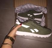 shoes,reebook,khaki,classic,shorts,Reebok,green,olive green