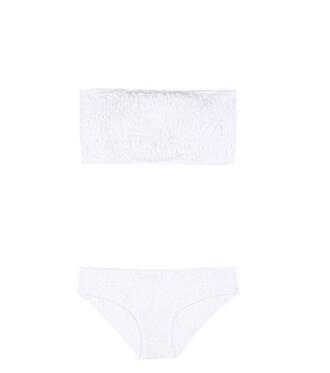 bikini bandeau bikini white swimwear