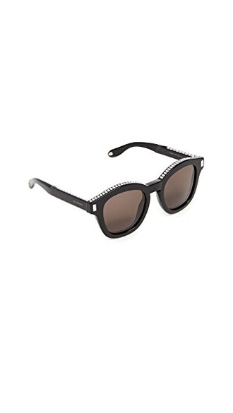 embellished sunglasses clear black brown