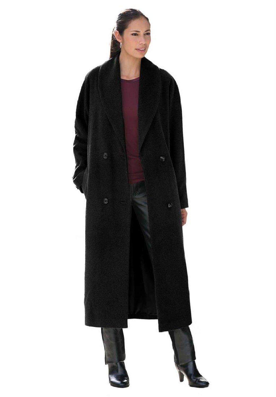 London Women's Plus Size Shawl Collar Coat at Amazon Women's ...
