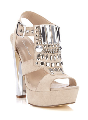 Parker Embellished Heel - Miss Selfridge
