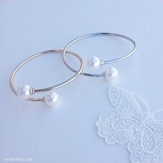 jewels bracelets gold pearl bracelet silver pearl bracelet ishopcandy pearl bracelet pearl bracelets silver gold cuff bracelet