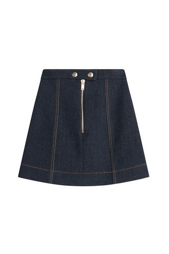 skirt denim mini blue