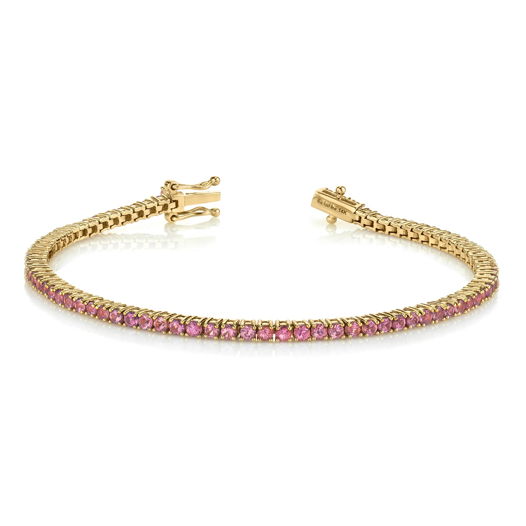 PERFECT PINK TOURMALINE TENNIS BRACELET