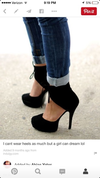 shoes black heels suede shoes ankle strap heels