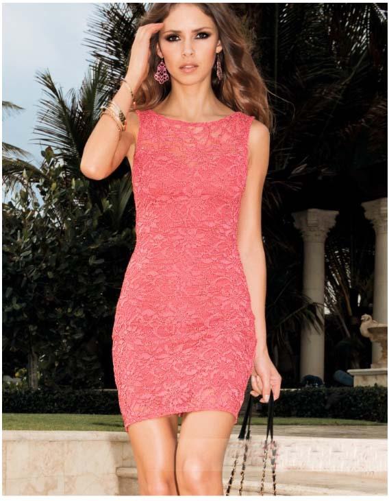2014 New Style Fashion Elegant Sexy Bodycon Sleeveless Back Open Lace Dress Women Club Dresses FREE SHIPPING | Amazing Shoes UK