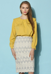 top,chicwish,mustard,spring outfits