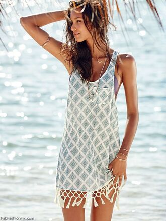dress summer boho dress beach print