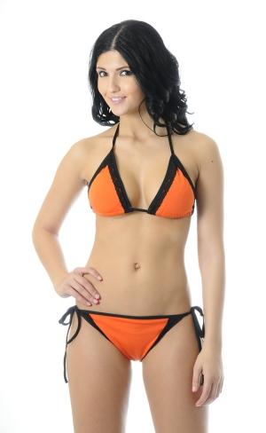 Orange with black lace