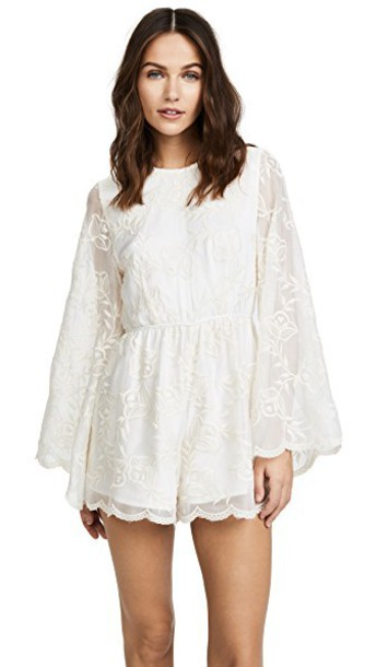 Stevie May embroidered white romper