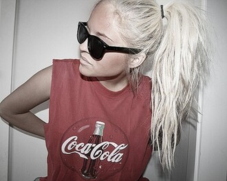 tank top red tank top coca cola