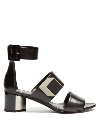 heel sandals black shoes