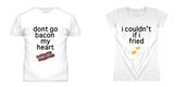 t-shirt,bacon,egg,couple,heart,breakfast