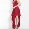Red flowing irregular maxi dress on storenvy
