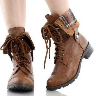 shoes combat boots brown