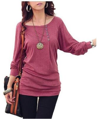 shirt pretty trendy hot pink casual edgy