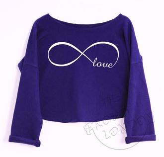 top fashion tumblr crop tops love infinity