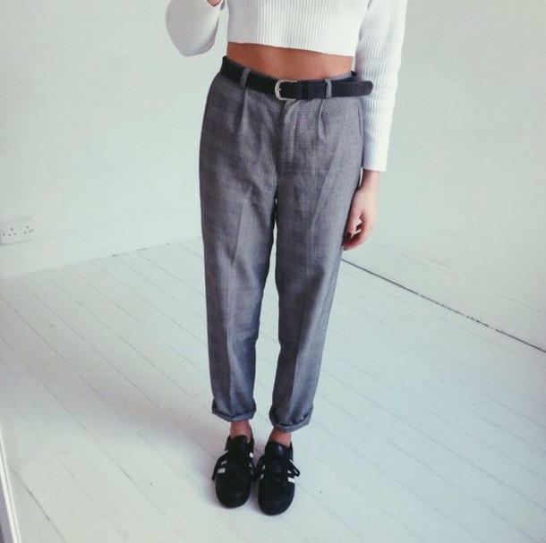 pants vintage trousers dogtooth tailoring vintage cigarette