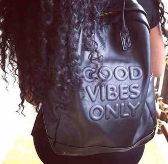 bag leather bag good vibes