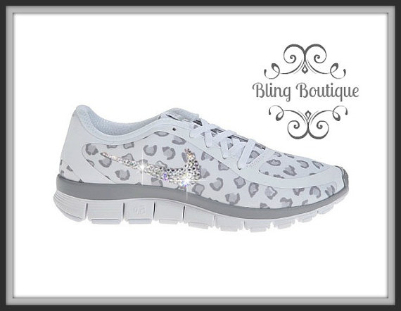 detailed look 31825 c90a9 FREE SHIPPING Swarovski® Nike® Shoes - Nike Free 5.0 V4 Running Shoes  Leopard Cheetah -Swarovski® Xirius Rose Crystals Authentic New In Box