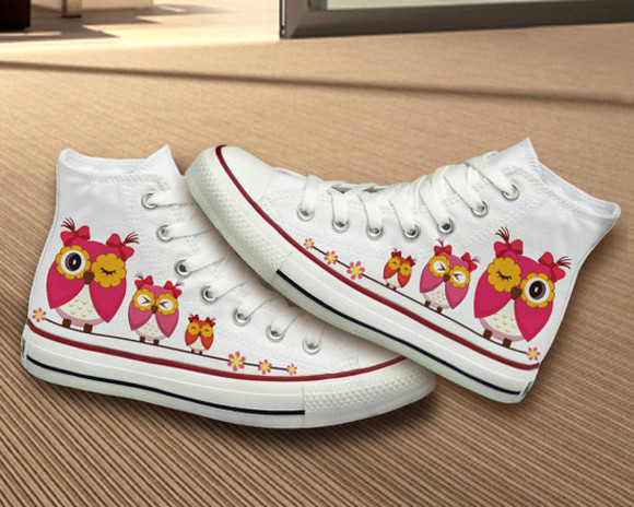 owl shoes converse handpainted hand painted shoes best gifts birthday girly