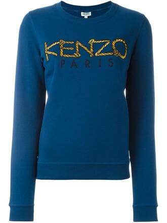sweatshirt paris blue sweater