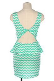 dress,peplum dress,peplum,mint,mint dress,wedding,open back,cutout back,cute dress