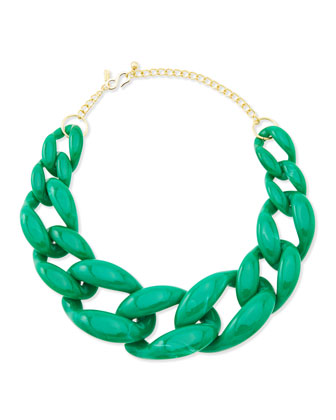 Kenneth Jay Lane Green Link Necklace - Neiman Marcus
