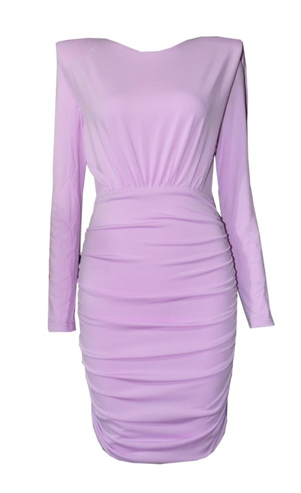dress spring lavender long sleeve dress prom dress
