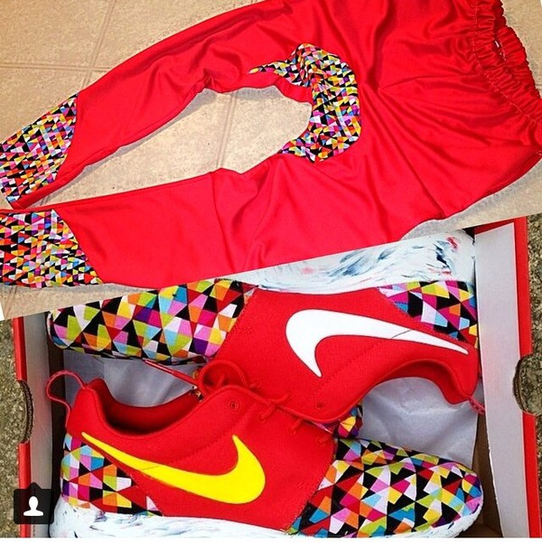 sweatpants prism nike roshe run