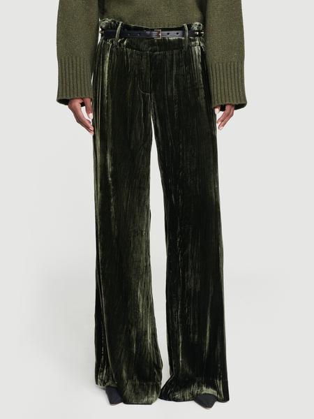 Velvet Panne Met Pant Deep Moss