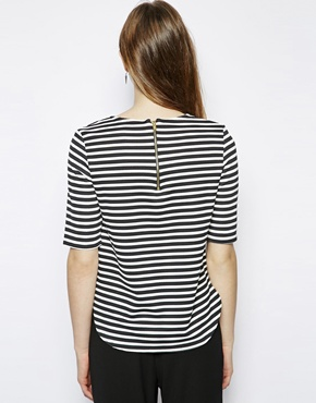 New Look Tall | New Look Tall Textured Stripe Boxy Tee at ASOS