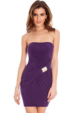 Bandeau Jersey Mini Dress
