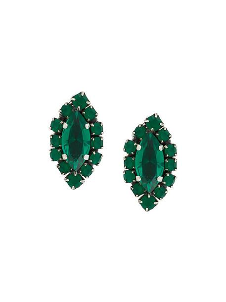 RADÀ women embellished earrings stud earrings green jewels