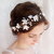 bridal hair accessories, wedding flower headpiece, white flower crown, circlet -WHIMSY- rustic wedding flower crown, ivory hair accessory