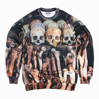 sweater sweatshirt skull