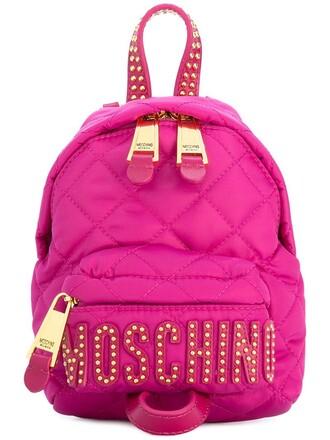 mini studded backpack studded backpack leather purple pink bag