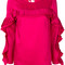 P.a.r.o.s.h. - 3d pleated panel top - women - polyester - s, pink/purple, polyester