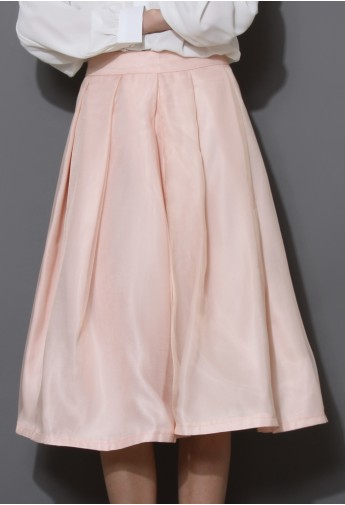 Tender Love Pleated A-line Full Skirt in Pink - Retro, Indie and Unique Fashion