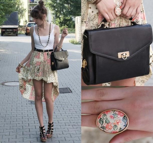 skirt short front long back mini maxi asymmetrical bag