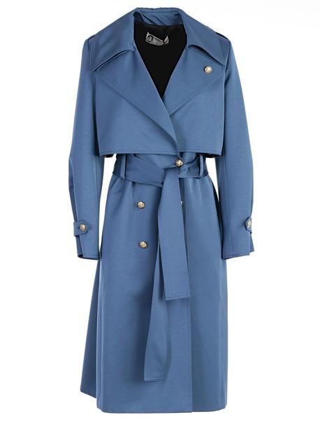 lanvin coat blue